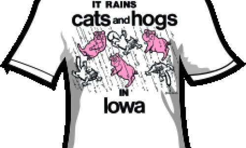 IT RAINS CATS and HOGS in IOWA